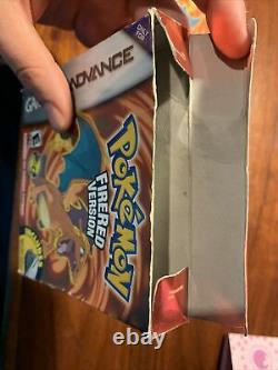 Pokemon Fire Red First Print (game Boy Advance Gba) Box + Manuel Seulement Authentique