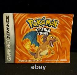 Pokemon Fire Red (game Boy Advance, Gba) Cib Complet Dans La Boîte, Authentique Et Testé