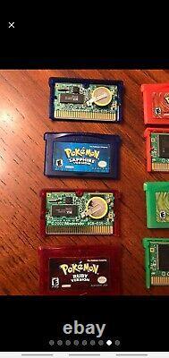 Pokemon Gameboy Advance Lot 100% Authentic Tested Nouvelle Batterie