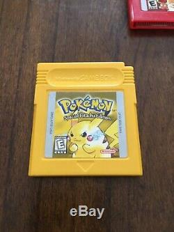 Pokemon Gameboy Color Lot Authentique Et Testé Rouge, Bleu, Jaune, Or, Argent Et