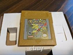 Pokemon Gold Complete In Box Nintendo Game Boy Couleur Gba Sp Cib Authentic