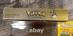 Pokemon Gold Game Boy Complet En Boîte Cib Authentic Excellent Avec Le Protecteur De Boîte