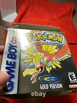 Pokemon Gold Game Boy Couleur Complète Dans La Boîte Authentique Testé Bonne Batterie