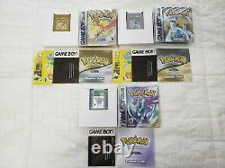 Pokemon Gold, Silver & Crystal Lot (game Boy Color) Complet / Authentique / Enregistrer