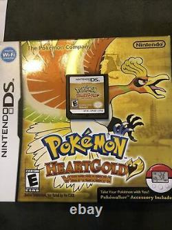 Pokemon Heartgold Version (nintendo Ds) Authentique Authentique Tested Box Case Manual
