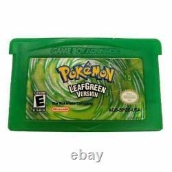 Pokemon Leaf Green Version Nintendo Game Boy Advance Jeu Authentique