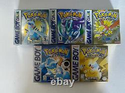 Pokemon Nintendo Jeu Boy Color Bundle Complet Cib Authentic Lot