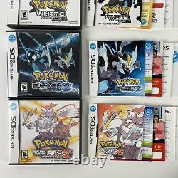 Pokemon Noir 1+2 + Pokemon Blanc 1+2 Nintendo Ds Lot Authentique Complet Cib
