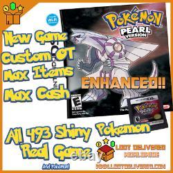Pokemon Pearl Authentic All 493 Shiny Game Unlocked Event Pokemon