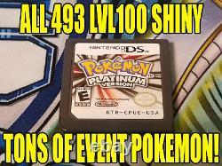 Pokemon Platinum Authentic All 493 Shiny Game Unlocked Event Pokemon