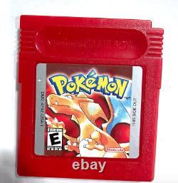 Pokemon Red Version Nintendo Gameboy Jeu Authentique Avec New Save Battery