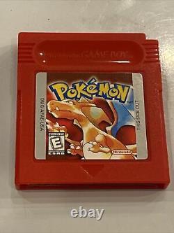 Pokemon Red Version Nintendo Jeu Boy Authentic New Battery Installé