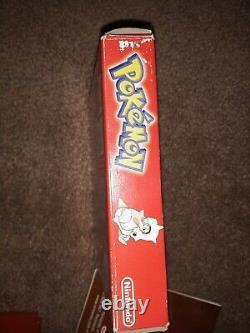 Pokemon Red Version (game Boy, 1998) Complet Dans La Boîte Authentic