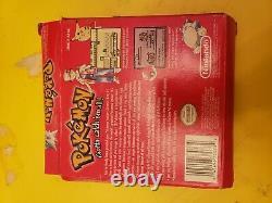 Pokemon Red Version (game Boy, 1998) Instructions Boîte De Jeu Complète Authentique