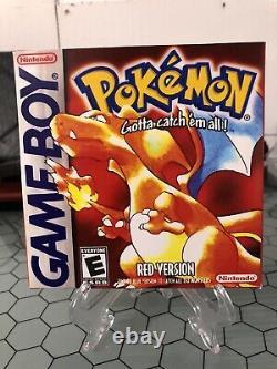 Pokemon Red Version (nintendo Jeu Garçon, 1998) Authentic Jeu & Tested Saves