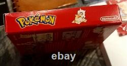 Pokemon Rouge Version Nintendo Jeu Garçon Complète En Boîte Cib Authentic Excellent