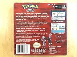 Pokemon Ruby Version Authentic Complete Cib Box Inserts Manuels Protecteur De Boîte