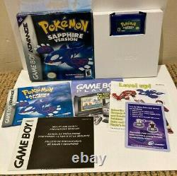 Pokemon Sapphire Complete En Boîte Cib Authentic Gameboy Advance Gba Et Working