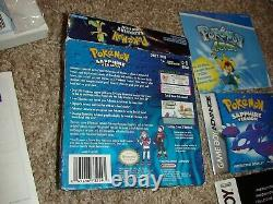 Pokemon Sapphire Version Nintendo Authentique! Jeu Boy Advance Complete Cib Gba