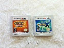 Pokemon Sol Silver + Platinum + Black + Plus Ds/3ds Lot De 6 Jeux Autoentiques