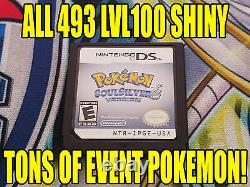 Pokemon Soulsilver Authentique Tous Les 493 Jeu Brillant Déverrouillé Événement Pokemon