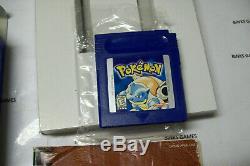 Pokemon Version Bleu Jeu Complet Au Nouveau Nouveau Coffret Authentique Économiser La Batterie