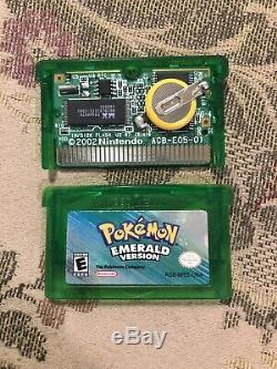 Pokemon Version Emeraude (game Boy Advance, Gba) Authentique Complete In Box Cib