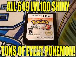 Pokemon White 2 Authentique Tous Les 649 Jeu Brillant Déverrouillé Événement Pokemon