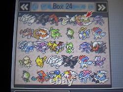 Pokemon White Authentic All 649 Shiny Game Unlocked Event Pokemon