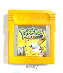 Pokemon Yellow Version Authentic Avec New Save Battery! Garçon De Jeu De Nintendo