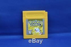 Pokemon Yellow Version Complète Avec La Boîte Authentique Nintendo Gameboy Jeu