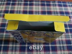 Pokemon Yellow Version Spéciale Pikachu Authentic Game Boy GB Box Only