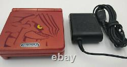 Rare Oem Authentique Ntsc Nintendo Game Boy Advance Sp Groudon Très Bon Gba