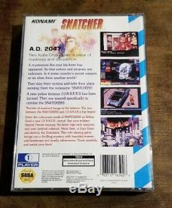 Rare! Snatcher (sega Genesis Cd) Authentique