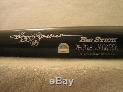 Reggie Jackson Jeu Occasion Et Rawlings Mlb Signé Authentifiées Bat (yankees)