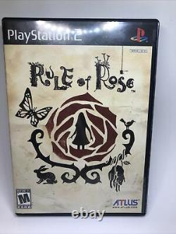 Règle De Rose (sony Playstation 2, Ps2) Complete -tested Authentic. Altus