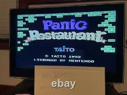 Restaurant Panic Nes Nintendo Système De Divertissement Rare 100% Authentique États-unis Taito