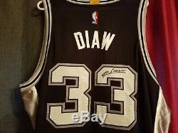San Antonio Spurs Boris Diaw Adidas Authentique Rev 30 Maillot De Jeu Automatique Non Coa