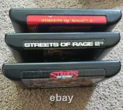 Sega Genesis Streets Of Rage 1 2 3 Trilogie Complet Cib Authentic Rare Vintage
