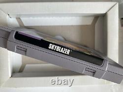 Skyblazer Snes Super Nintendo Complet Cib Authentique Avec Protecteur En Plastique