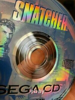 Snatcher Sega CD 100% Original Authentic Complet En Boîte Avec Jeu De Cas Manuel