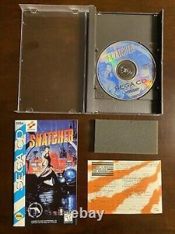 Snatcher Us 1994 CD Sega Avec Box Manual Authentic Rare Great Shape