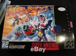 Snes 1996 Mega Man X3 Cib Authentique Panier + Poussière, Plateau, Hq Boîte Personnalisée Manuel Nice