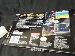 Snes Mega Man X2 Cib Authentic Cart, Insert, Plateau, Hq Custom Manual & Box Complete