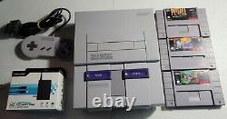 Snes Super Nintendo Console Bundle Avec 3 Jeux. Travail Authentique Testé