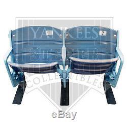 Steiner Authentique Jeu Utilisé Yankee Double Seat Paire Du Stade Original