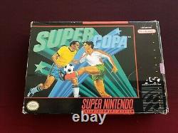 Super Copa Authentic Ultra Rare Super Nintendo 1994 Snes Avec Boîte Et Manuel