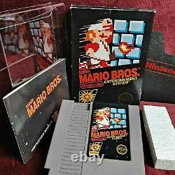 Super Mario Brooriginal 5 Vis Circle Sealnintendo Nes Authentic Black Box Us