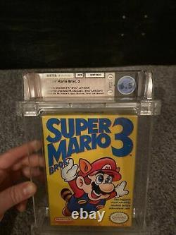 Super Mario Bros. 3 1er Print Left Bros Wata 6.5 Authentique Nes Nintendo