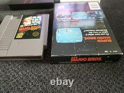 Super Mario Bros Nes, 5 Vis, Boîte Noire Panier Encoche D'accrochage Et La Boîte Seulement Authentique
